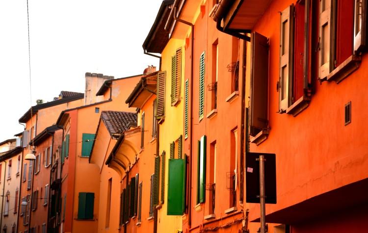 bologna ulica farby