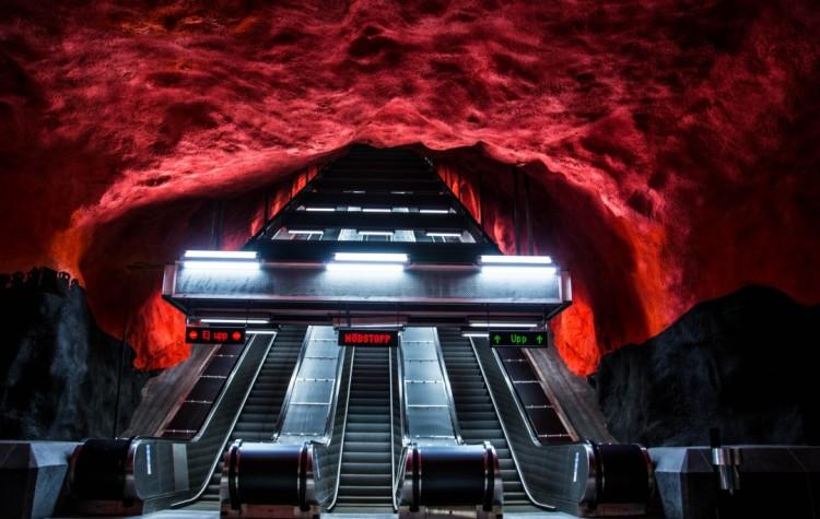 Solna centrum metro stockholm underground
