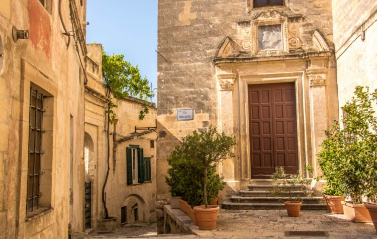ulice matera taliansko