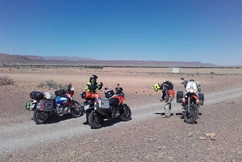 maroko púšť motorky