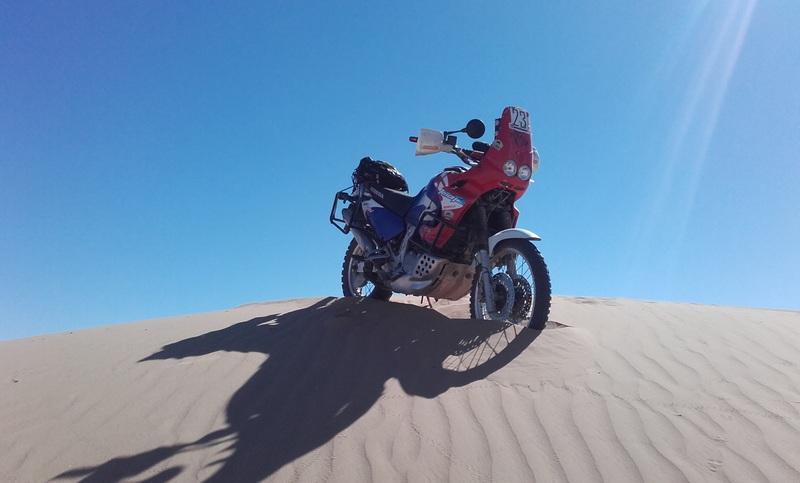 púšť maroko motorka