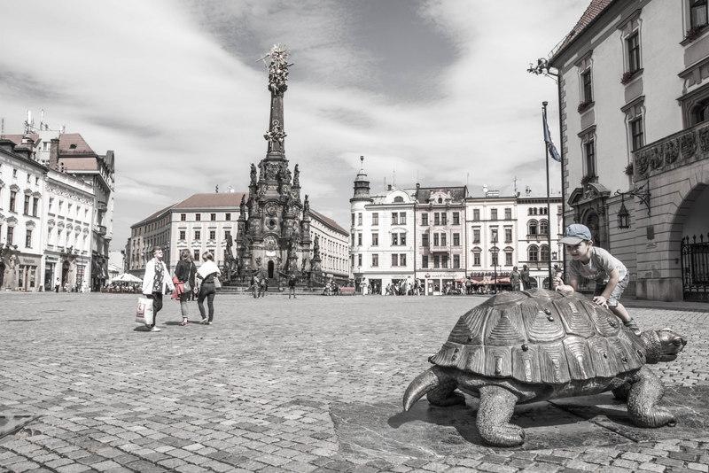 horní námestí olomouc fontána korytnačka
