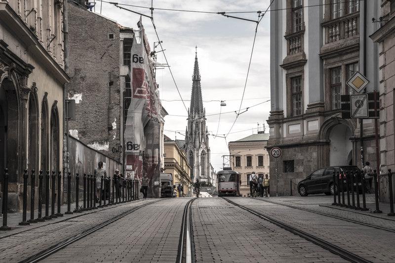 ulice 1. máje olomouc katedrála sv. václava
