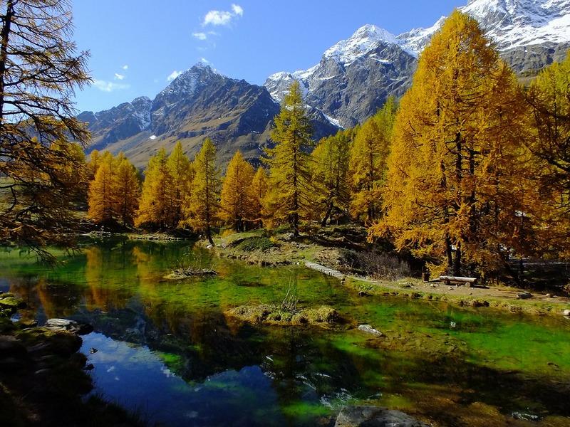 lago blue aosta taliansko
