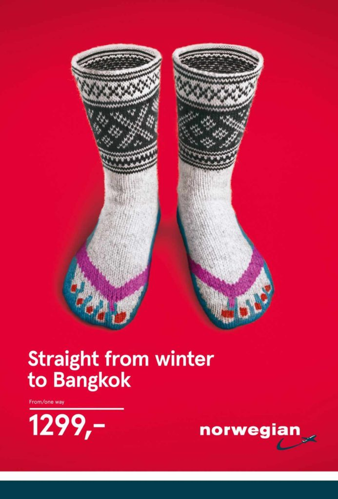 norweigan air reklama na bangok