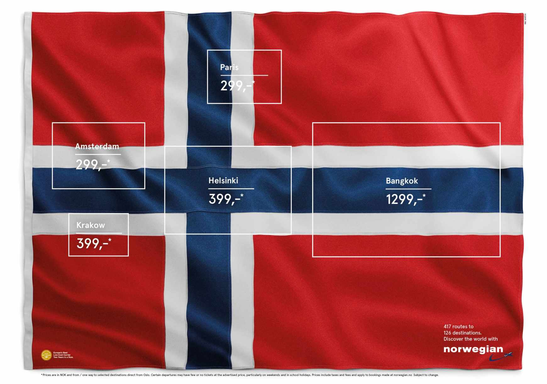 norweigan air reklama vlajka