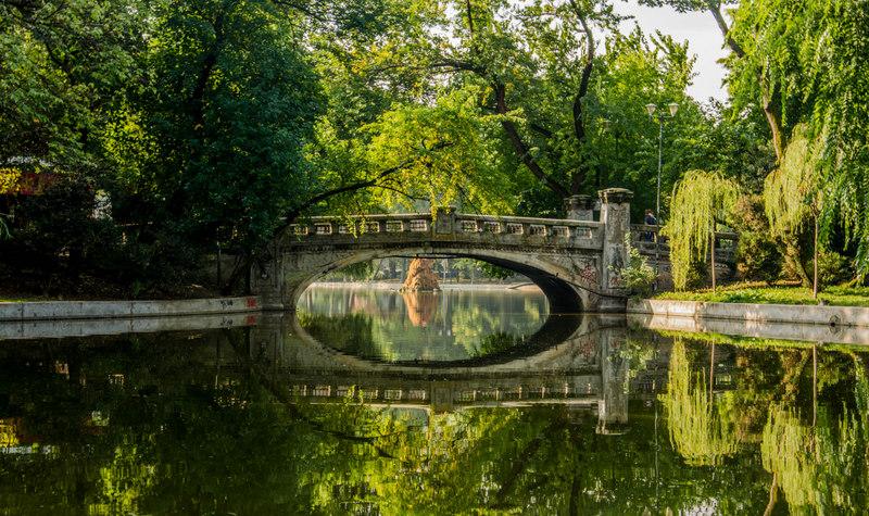 záhrady Cișmigiu v Bukurešti