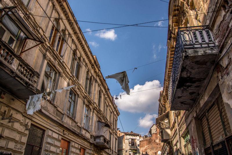 Ulička v Bukurešti