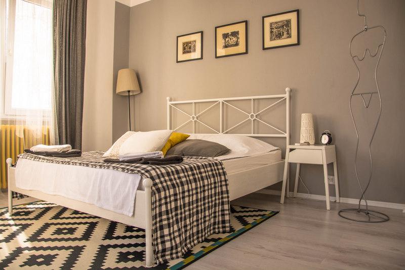 airbnb spálňa obývačka bukurešť