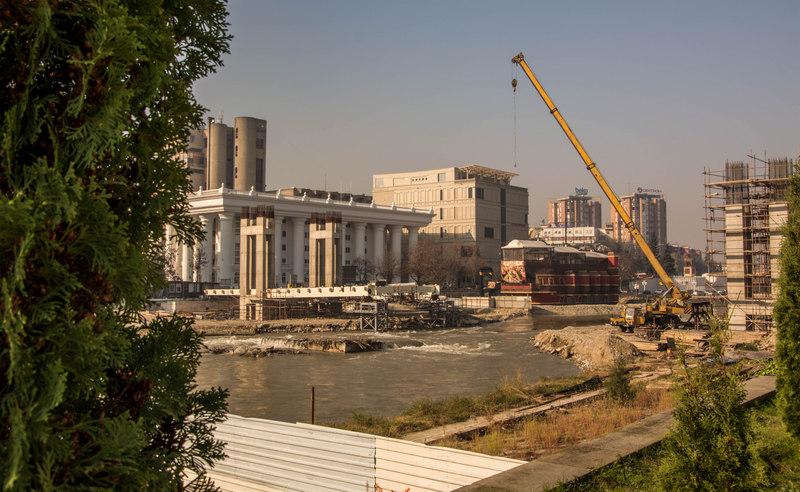 Projekt Skopje 2014 v akcii
