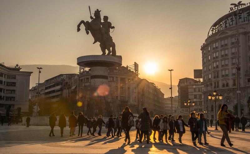 Námestie v Skopje