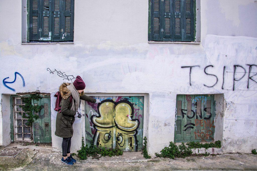 Atény streetart