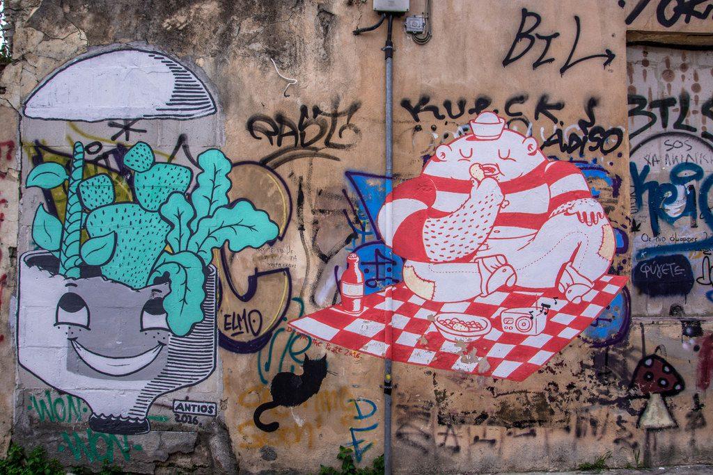 streetart atény anafiotika