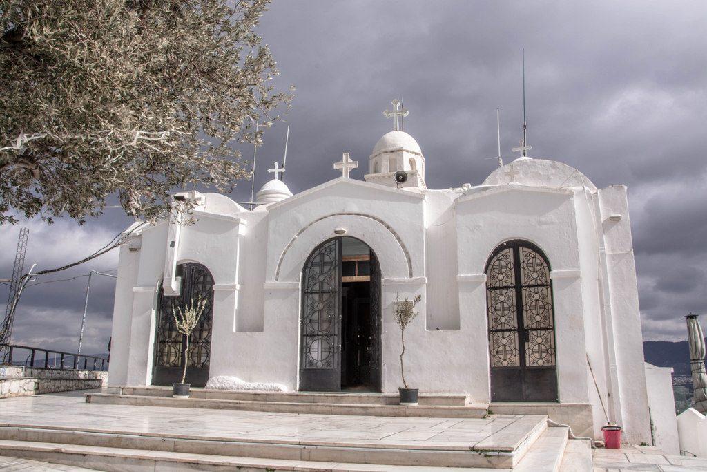 Kostol na Mt. Lycabettus0572